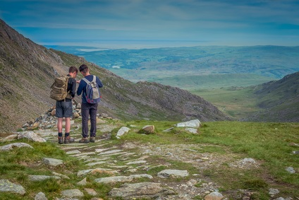 Old Man of Coniston hikers
